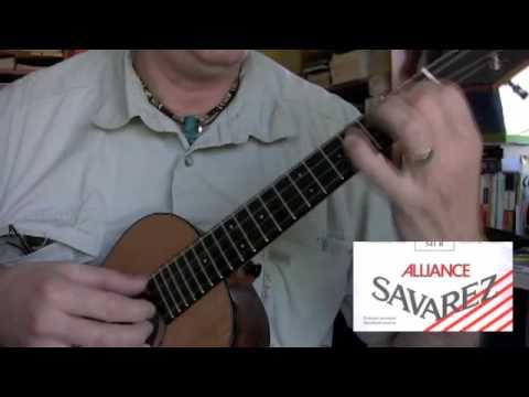 savarez alliance string comparison classical guitar strings on ukulele youtube. Black Bedroom Furniture Sets. Home Design Ideas
