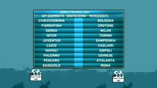 Calendario Serie A TIM Stagione 2016-2017 (Draw Serie A TIM Season 2016-2017)