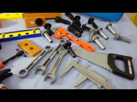 Compilation Power tool toys kids building Disney Toys Chest Videos for children