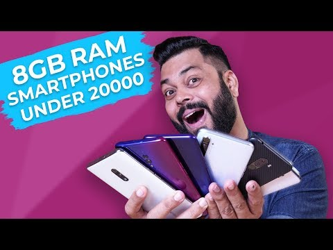 TOP 6 BEST 8GB RAM MOBILE PHONES UNDER ₹20000 BUDGET ⚡⚡⚡ December 2019