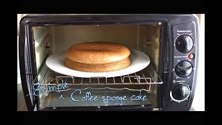 Simple Coffee sponge cake using Prestige POTG 19 PCR OTG