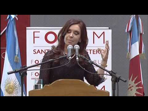 24 de JUL. Inauguración del Forum de Santiago del Estero. Cristina Fernández.