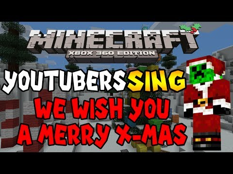 Minecraft : Youtuber's Sing We Wish You A Merry Christmas