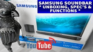 samsung Soundbar HW-J450 Unboxing, Specs & Functions Ruby Rock YouTube #24