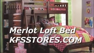 Discovery World Furniture Merlot Loft - Kfsstores.com