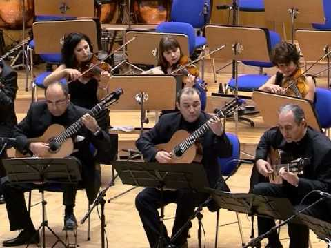 Nikita Koshkin. Concertino for 5 guitars and orchestra - I movement