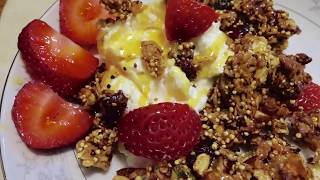 Granola with Toasted Nuts and Cranberries - Anna Basinger