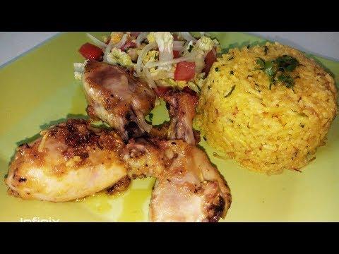 delicieux-riz-jaune-et-poulet-à-l'indienne-facile-et-rapide-!