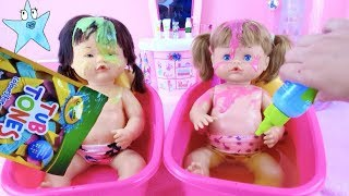 Ani and Ona Nenuco BATH ROUTINE Everything changes color!