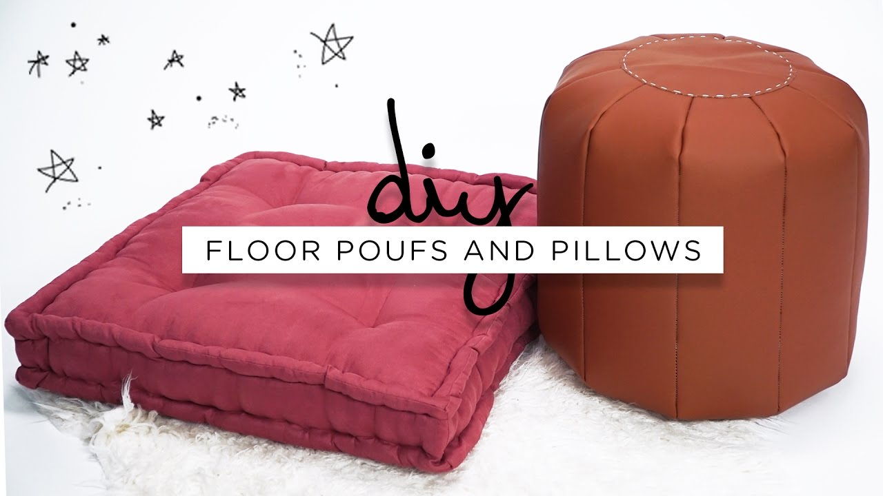 Living Room Pillows Floor Laminate Flooring Diy Poufs And The Sorry Girls Youtube