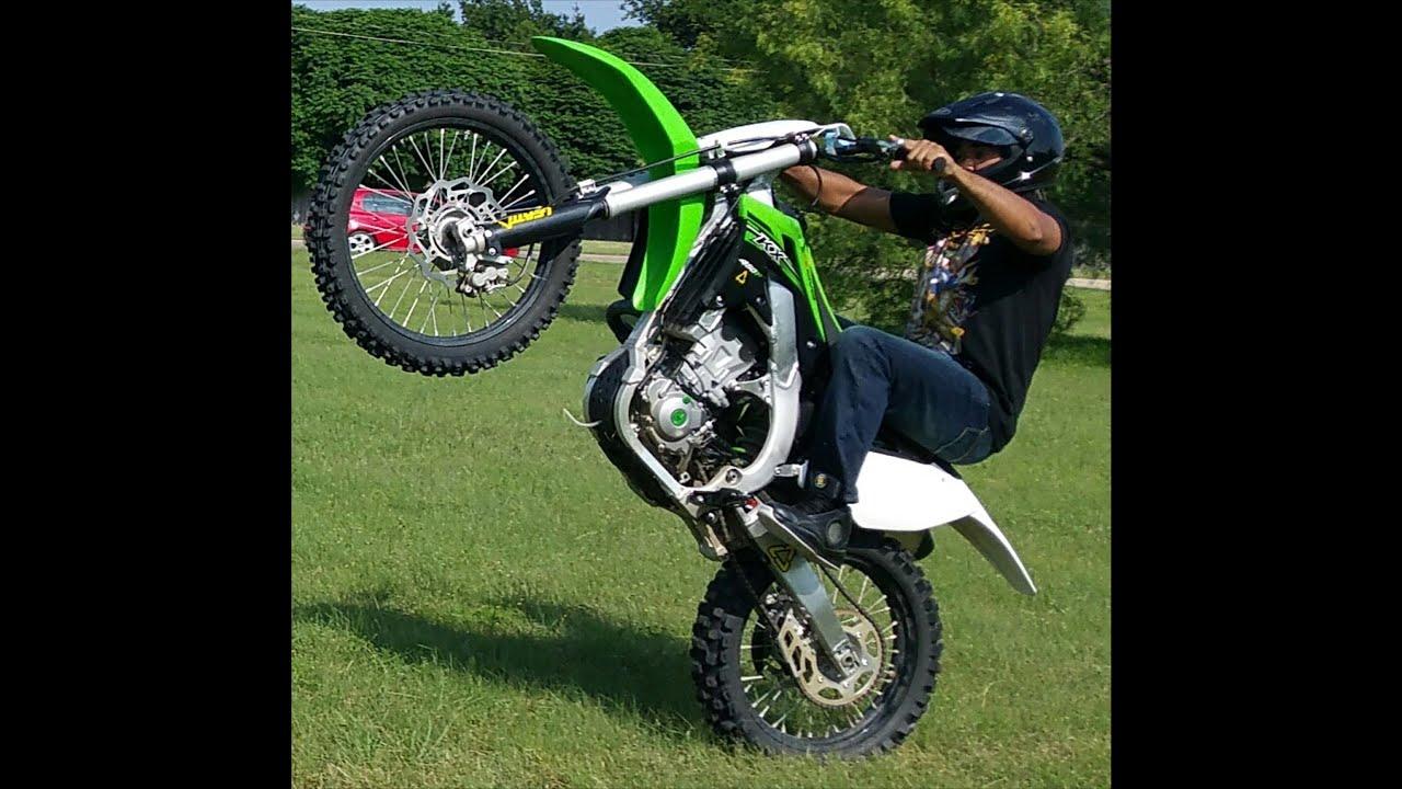 wheelie dirtbike kawasaki kx450f dirt bike