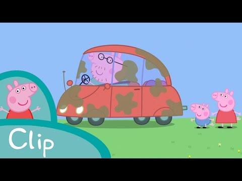 Peppa Pig - Peppa et George lavent la voiture (clip)