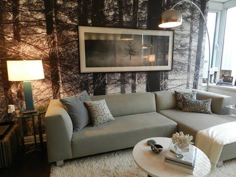 ASMR Оформление стены над диваном
