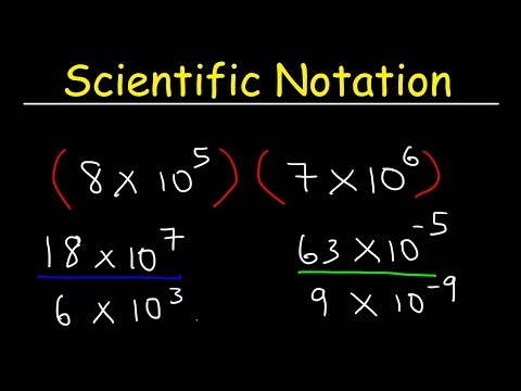Scientific Notation - Multiplication And Division