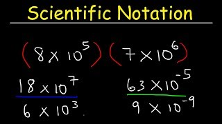 Scientific Notation - MuĮtiplication and Division