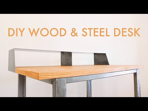 How to Build a CUSTOM Wood & Steel DESK // #diy #woodworking & #welding