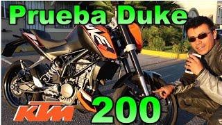 prueba KTM Duke 200  Review en espaol