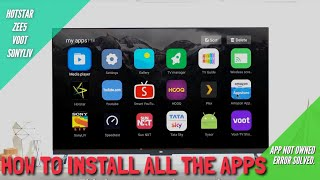 HOW TO INSTALL ZEE5,SUN NXT,VOOT IN MI TV 4 AND MANY MORE