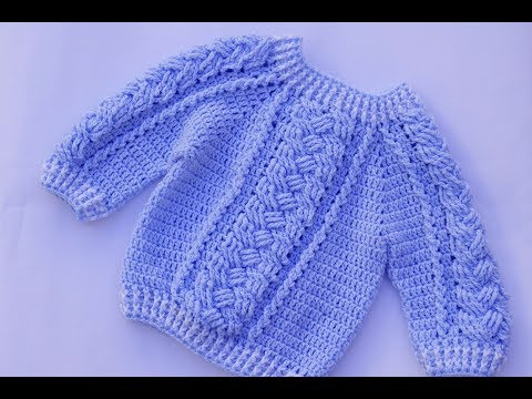 How to make a child's crochet sweater