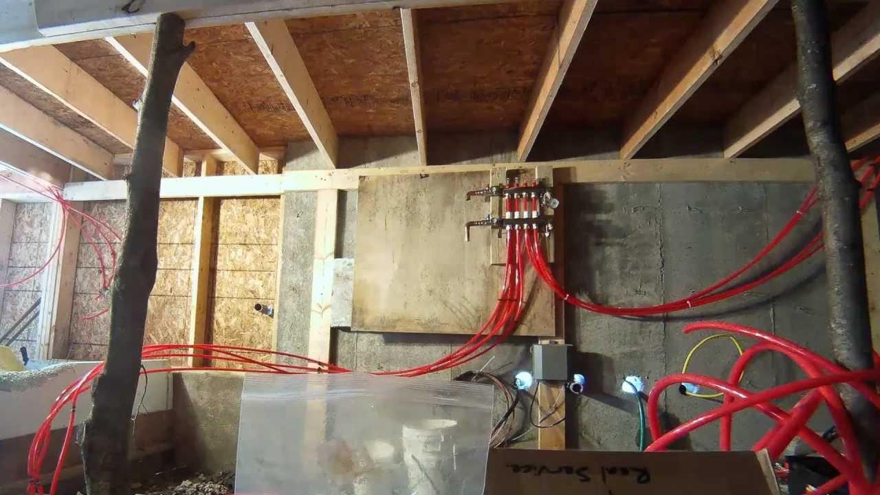 Installing a radiant heating manifold  94  My DIY Garage