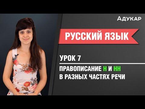 Правописание Н и НН в разных частях речи| Русский язык ЦТ, ЕГЭ