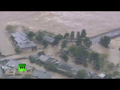 Thousands EVACUATED as Typhoon Man-Yi Brings FLOODING to JAPAN