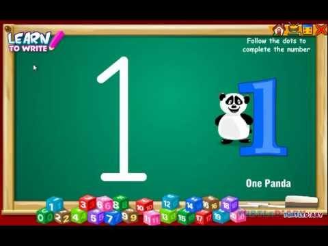 Limba engleza pentru copii - Invatati sa scrieti numerele