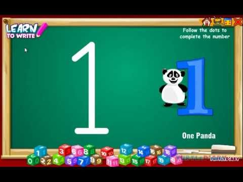 Learn to Write Numbers | Preschool Number Writing Game