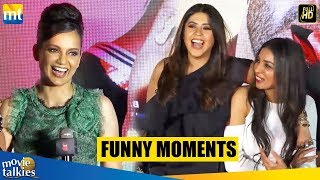 FUNNY Moments I Kangana Ranaut, Rajkummar Rao, Ekta Kapoor I Judgmental Hai Kya I Warkha Song Launch