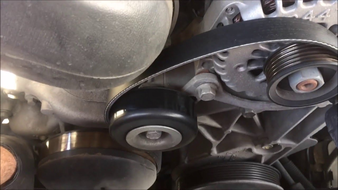 how to 2007 chevy tahoe 5 3l serpetine and a c belt replacement youtube [ 1280 x 720 Pixel ]