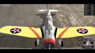 ヴォートsb2uヴィンディケーター艦上爆撃機 ラジコン飛行機 realflight6 5 着陸練習と失速からのリカバリー練習