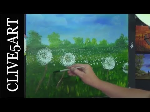 🌻Toilet Paper Rolls Dandelion Painting Cotton Swabs Technique for Beginners clive5art