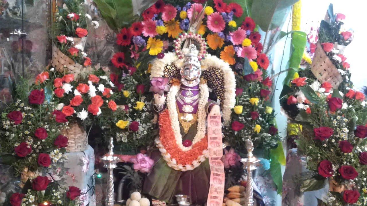 Items For Home Decoration Varamahalakshmi Pooja 2013 Decorated By Chandrakala Youtube