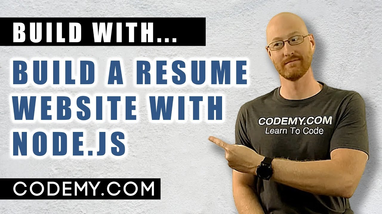 An online database is often ideal. Build A Resume Website With Node Js Youtube