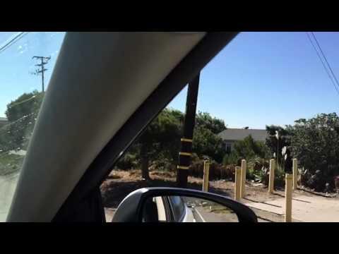 Driving around Malibu, California