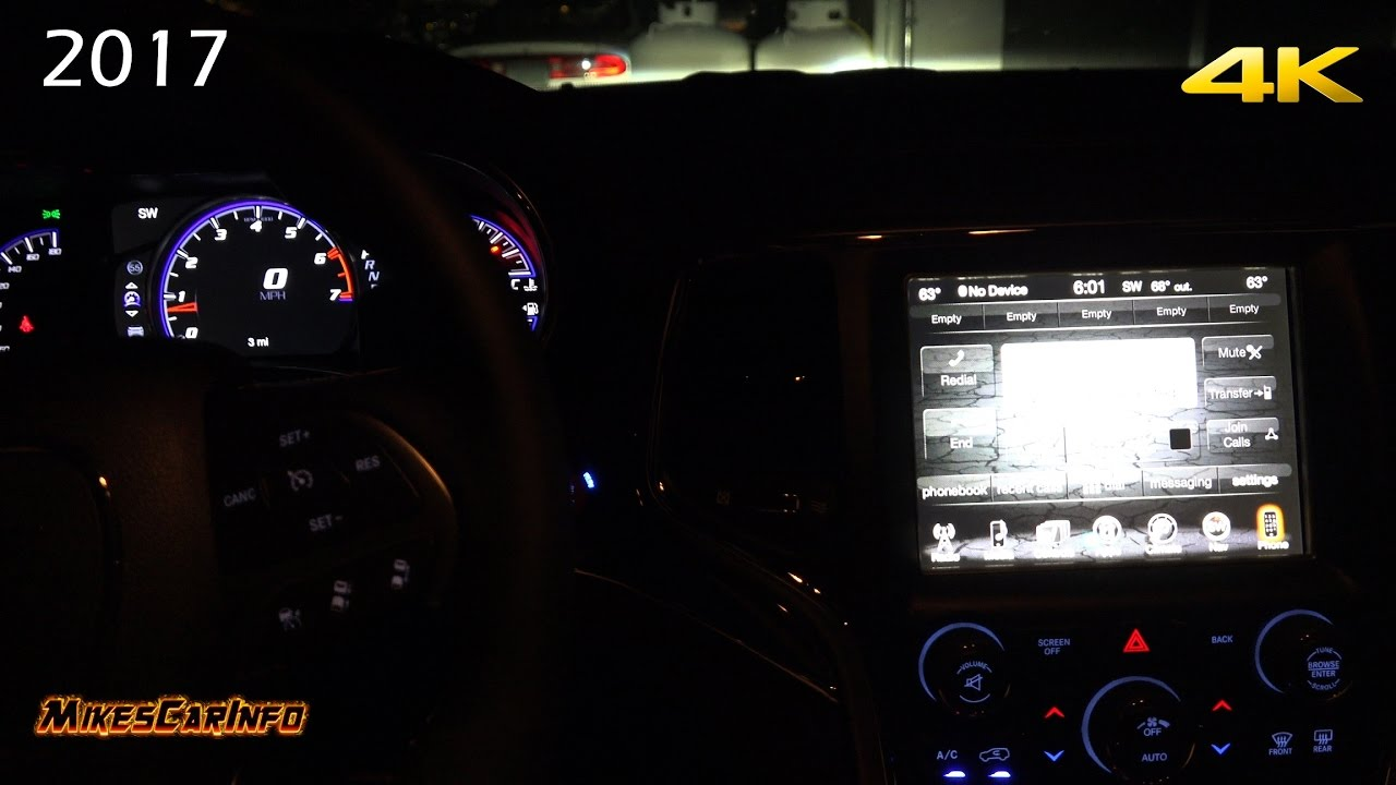 AT NIGHT 2017 Jeep Grand Cherokee SRT Interior And