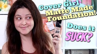 Cover Girl Matte Made Foundation - Wear Test & Review! | Jen Luvs Reviews
