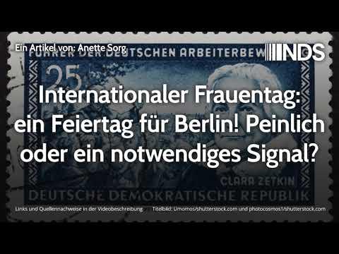 Internationaler Frauentag: ein Feiertag für Berlin! Peinlich oder ein notwendiges Signal?