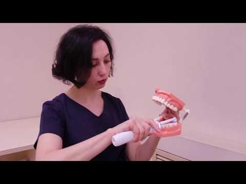 Как чистить зубы электрической щеткой