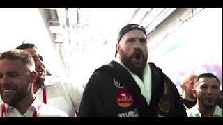 (EPIC) 'WE ARE SPARTANS' - TYSON FURY w/ BILLY JOE SAUNDERS / TEAM FURY - *FULL & UNCUT* RING WALK