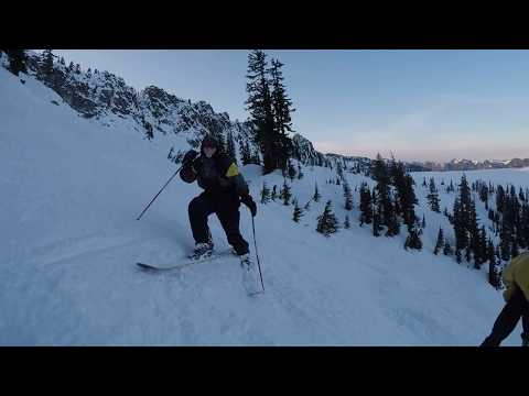 Skiing Alpental Ski Area Washington State Cascades with Jim 12-10-2017