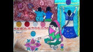 Diwali Card - Tejaswi School Student Activity