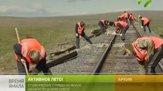 У студентов началась трудовая смена на Ямале