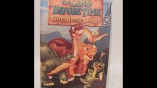 Opening To The Land Before Time:Sing-Along Songs 1997 VHS