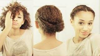 Use these 10 cute hairstyles to jazz up your short curly hair! **french braiding? http://goo.gl/i80lmx **flat twisting? http://goo.gl/xeuetq @luhhsetty for i...