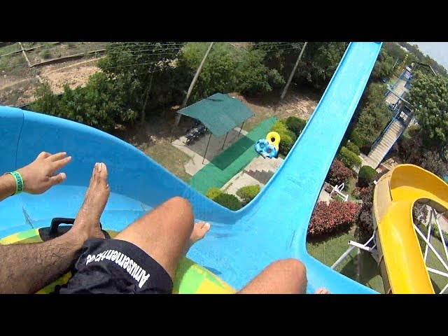 Blue Curve Water Slide at Funcity Wunder Water