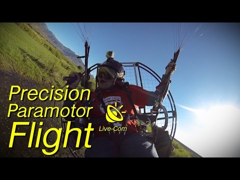 Precision Paramotor Flight - Powered Paragliding Low Level Action