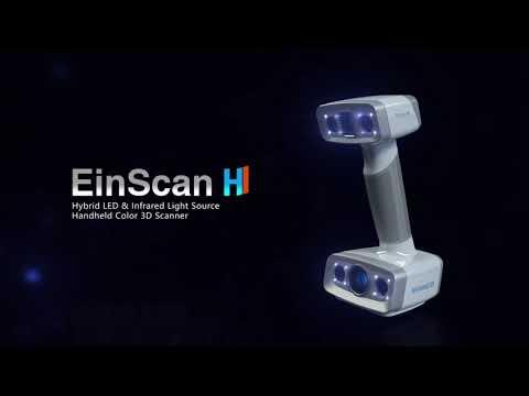 Hybrid LED & Infrared Light SourceHandheld Color 3D Scanner EinScan H - 3D Digitizing Solution