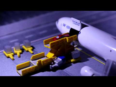 One day at a Model Airport | A Stop motion movie #Part 2