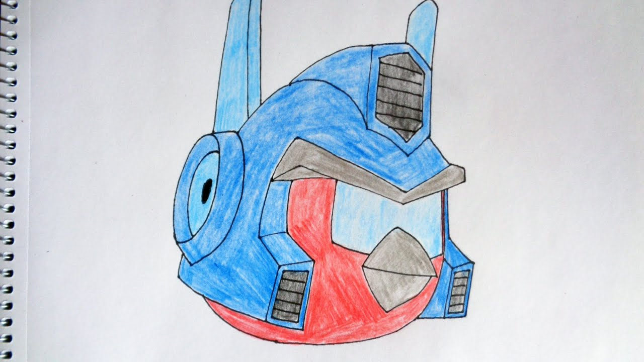 How To Draw Angry Birds Transformers Energon Optimus Prime